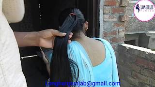 LHPB Rapunzel Mannu Heavy Hair Oiling ,Hair Play By Male Very Beautiful model