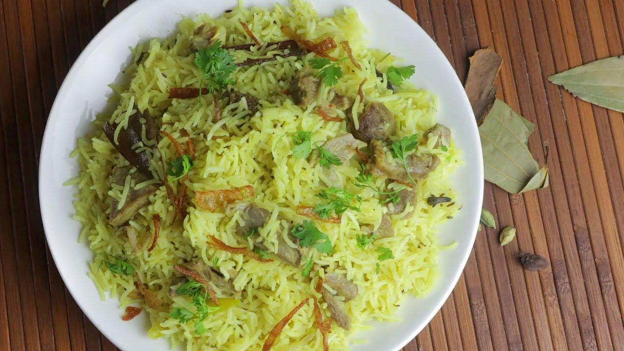 Mutton Yakhni Pulao Recipe   How to make Mutton Yakhni Pulao   Volga Videos