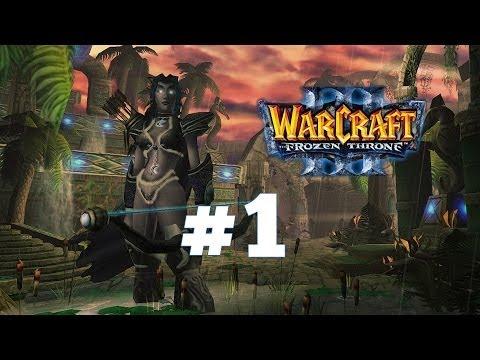 видео: warcraft 3 Ледяной Трон - Часть 1 - Ужас из глубин - Прохождение кампании Ночные эльфы