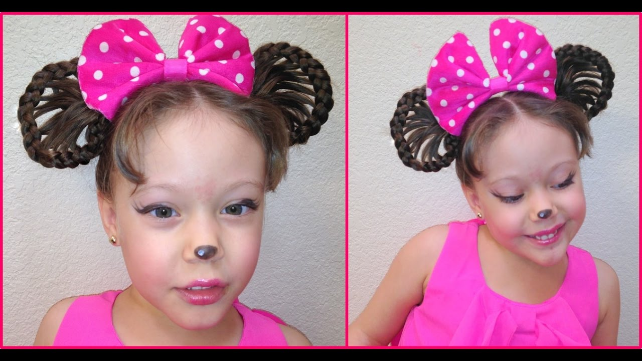 peinado de minnie mouse - minnie mouse hairstyle - youtube