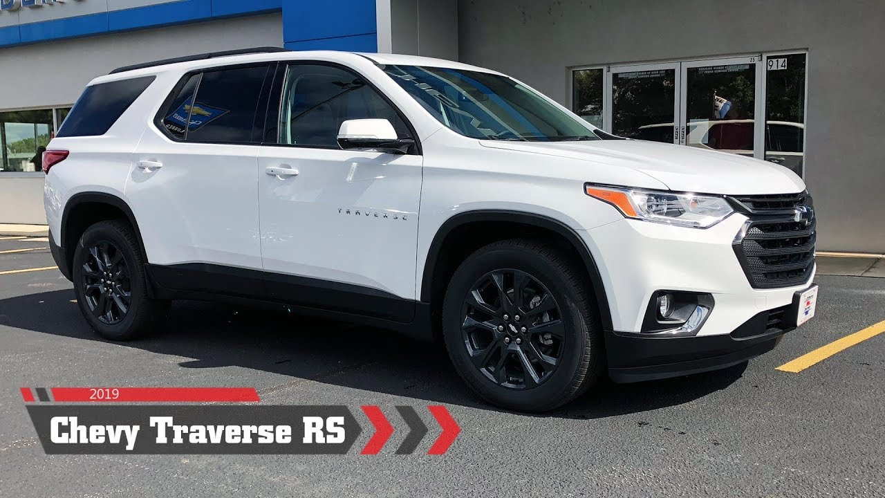 2019 Chevy Traverse Rs Awd