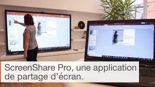 Comment faire du partage d'écran avec un écran interactif et Screenshare pro ?