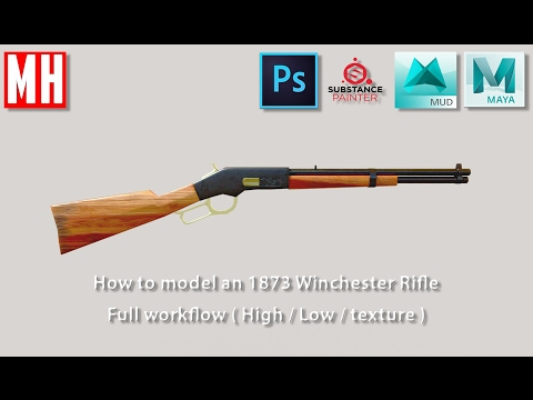 3D Modeling an 1873 Winchester rifle ( Full High to Low workflow ) Part 1 of 2