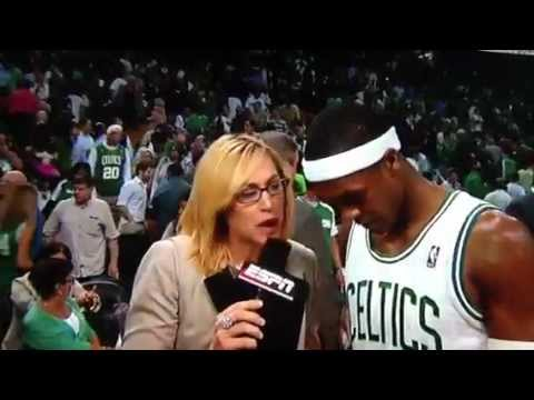 Rajon Rondo tells Doris Burke Miami Heat are crying and complaing