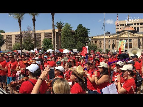 Music Teachers Provide Soundtrack To Arizona #RedForEd Movement