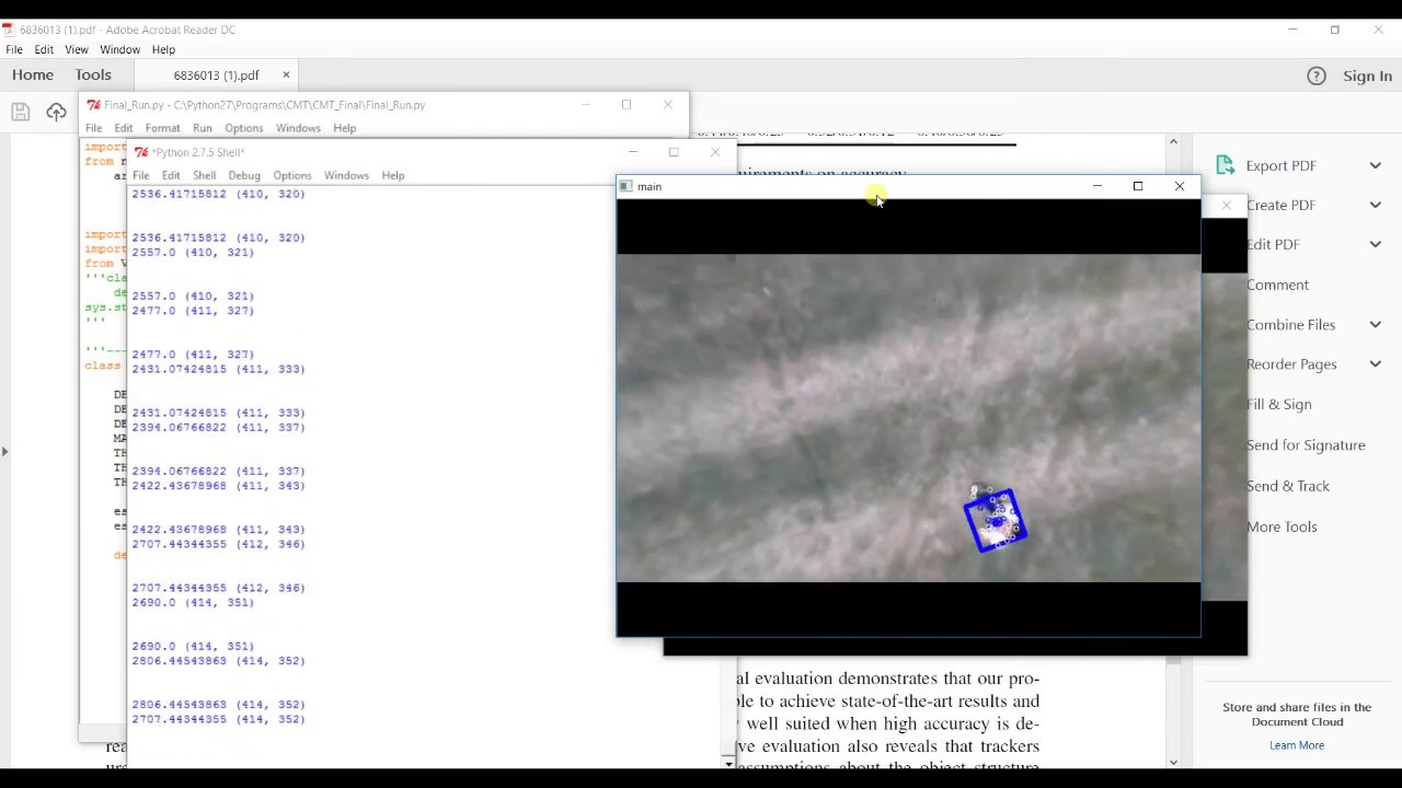 Aerial Surveillance using OpenCV