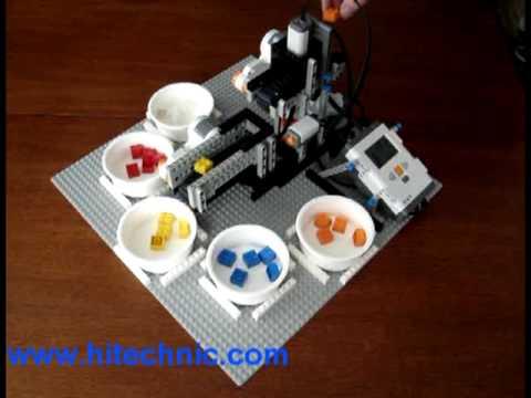 LEGO Mindstorms NXT Color Brick Sorter - YouTube