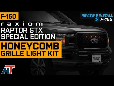 2018-2019 F150 Raxiom Raptor STX/Special Edition Honeycomb Grille Light Kit XL Review & Install
