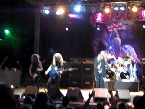 Saxon Live  The Eagle has Landed @ the Sunken Gardens San Antonio Texas August 22, 2009