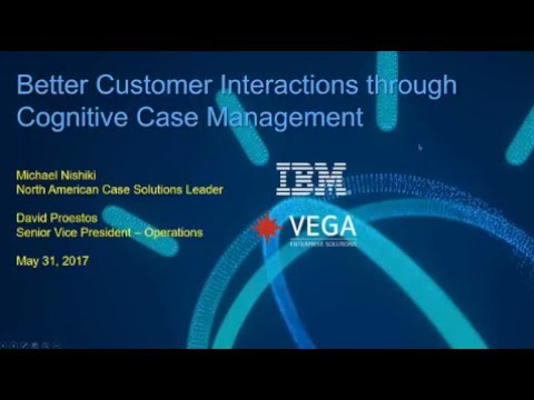 Better Customer Interactions with Cognitive Case Management