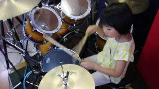 """北海道石狩市在住、7歳8カ月、小2女子ドラマー""""よよか"""" 今回は大好きな..."""