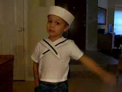 Little Boy Singing Popeye The Sailor Man Song