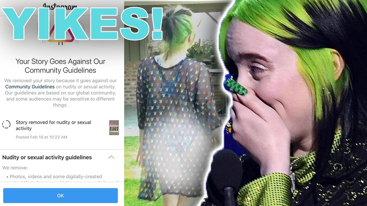 Billie eilish tits and ass Billie Eilish Banned From Instagram Hollywire Youtube