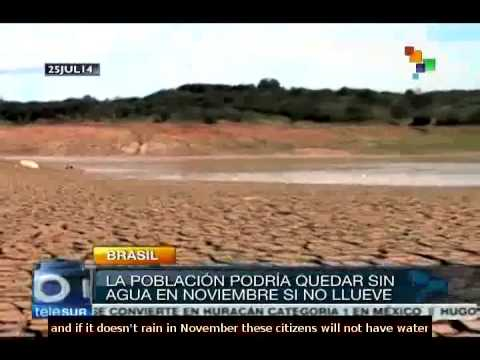Citizens of Sao Paulo Suffer water shortage