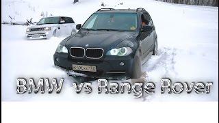 BMW X5 E70 vs RANGE ROVER (ЗИМНИЕ ПОКАТУШКИ ПО ЛЕСУ)