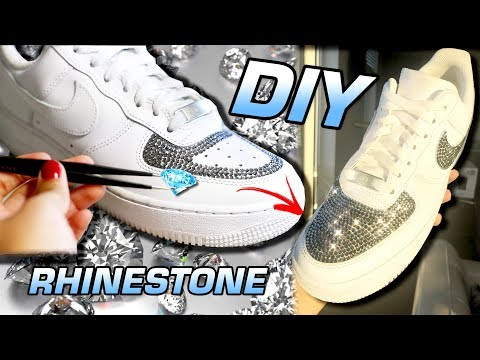 DIY RHINESTONE BUSS DOWN AIR FORCE 1 CUSTOM!