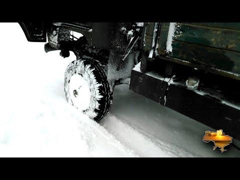 Расход топлива УАЗ при движении по снегу.