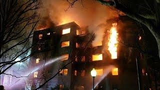 P1 Fort Lee NJ Multiple Alarm Linwood Park Apartment Complex Inferno Fire Storm !(Edwin St)  2-14-19
