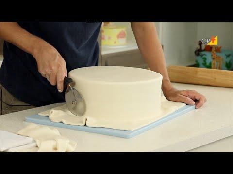 Como Cobrir o Bolo Com Pasta Americana - Curso a Distância Avançado  de Decoração de Bolos