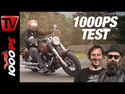 1000PS Test - Harley-Davidson Softail Slim 2017 Iron Red Denim