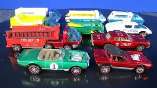Hot Wheels Redlines Heavyweights Fire Engine, Ambulance, Scooper, Moving Van and Fuel Tanker