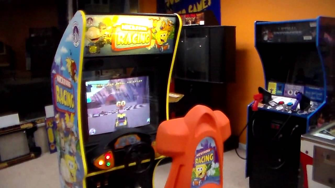 nicktoons racing arcade game gameplay cabinet design artwork