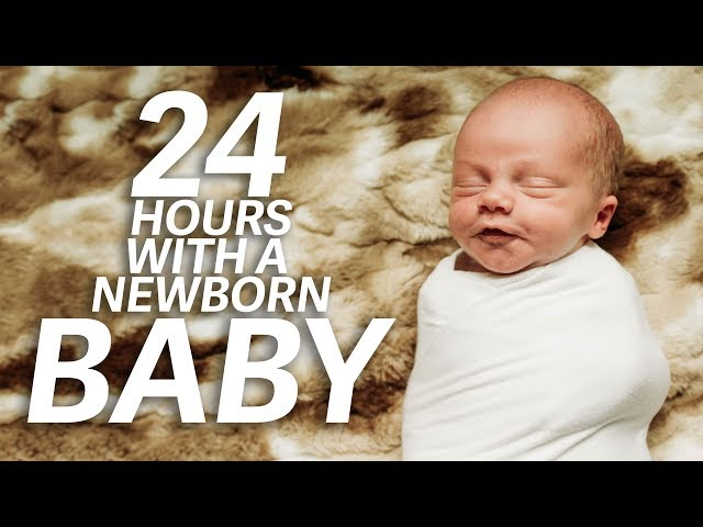 24 HOURS WITH A NEWBORN BABY!   Ellie and Jared Routine