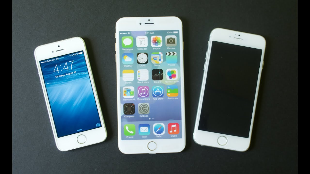iPhone 6 vs iPhone 5s: 4, 4.7 & 5.5-inch - YouTubeIphone 5 6 7