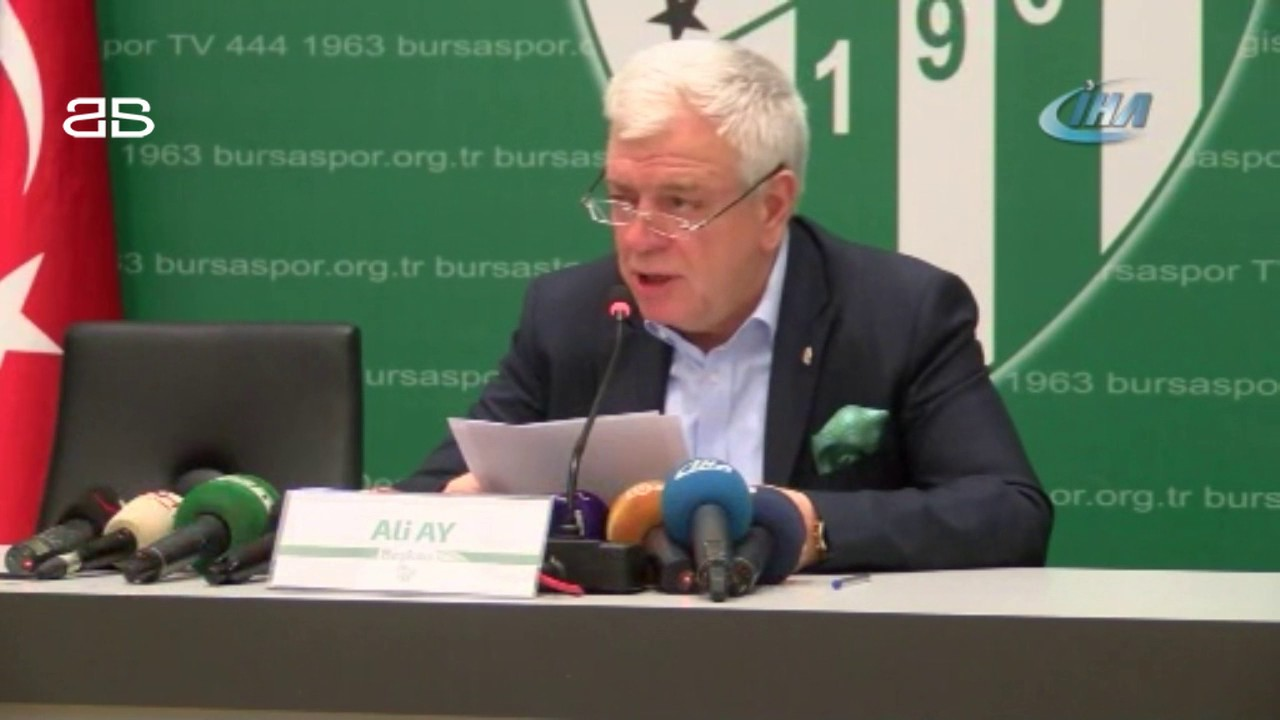 Ali Ay: 'Bu olay Bursaspor tarihine kara leke olarak girmiştir'
