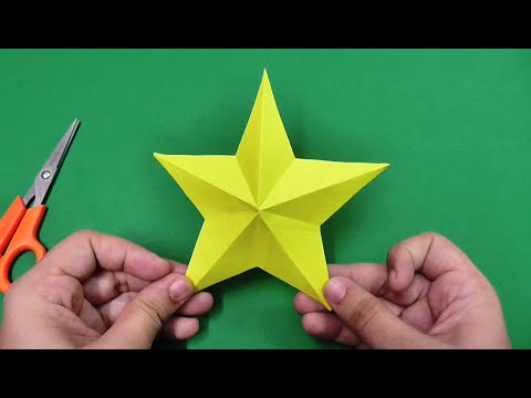How To Make Simple Easy Paper Star Diy Paper Craft Ideas Videos Tutorials Youtube