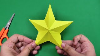 How to make a simple and easy paper star | DIY Paper Craft Ideas, Videos & Tutorials.