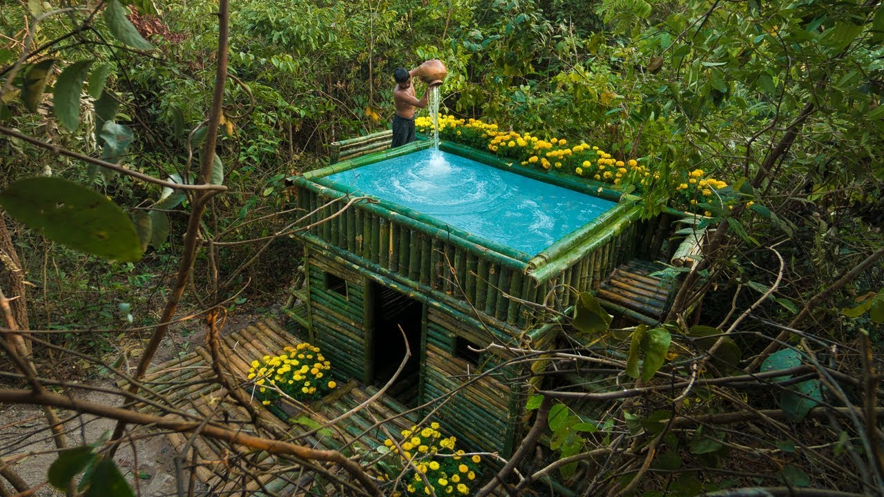 Build rooftop swimming pool on Tiny House Villa