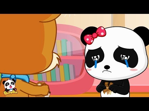Whiskers Tore Miumiu's Shadow Puppet | Baby Panda is Crying | BabyBus Cartoon