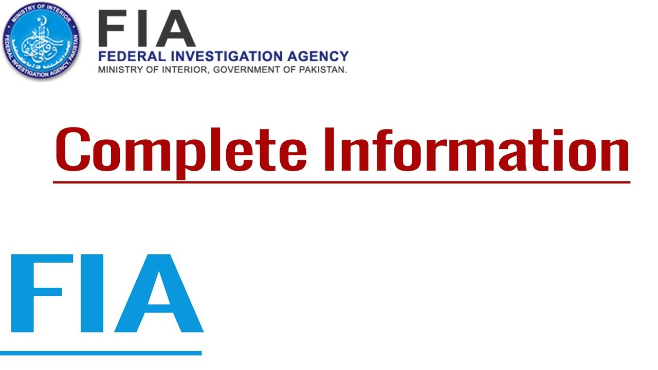 Complete Information of FIA, FIA Functioning and Organizational Structure  by CEXAM