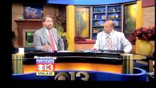 Maryland Earthquake WJZ TV 13 Baltimore News Coverage 5:05am 7/16/2010