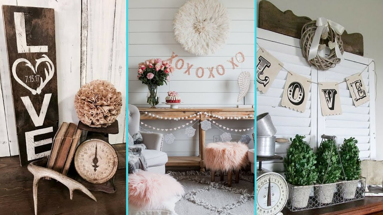 Diy Rustic Shabby Chic Style Valentine Home Decor Ideas