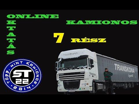 21.A kamionos.Online sofőr betanítás  kezdőknek 7.rész.