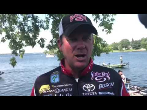Kevin VanDam surprised by 24 pound bag on Day 1 at St. Lawrence