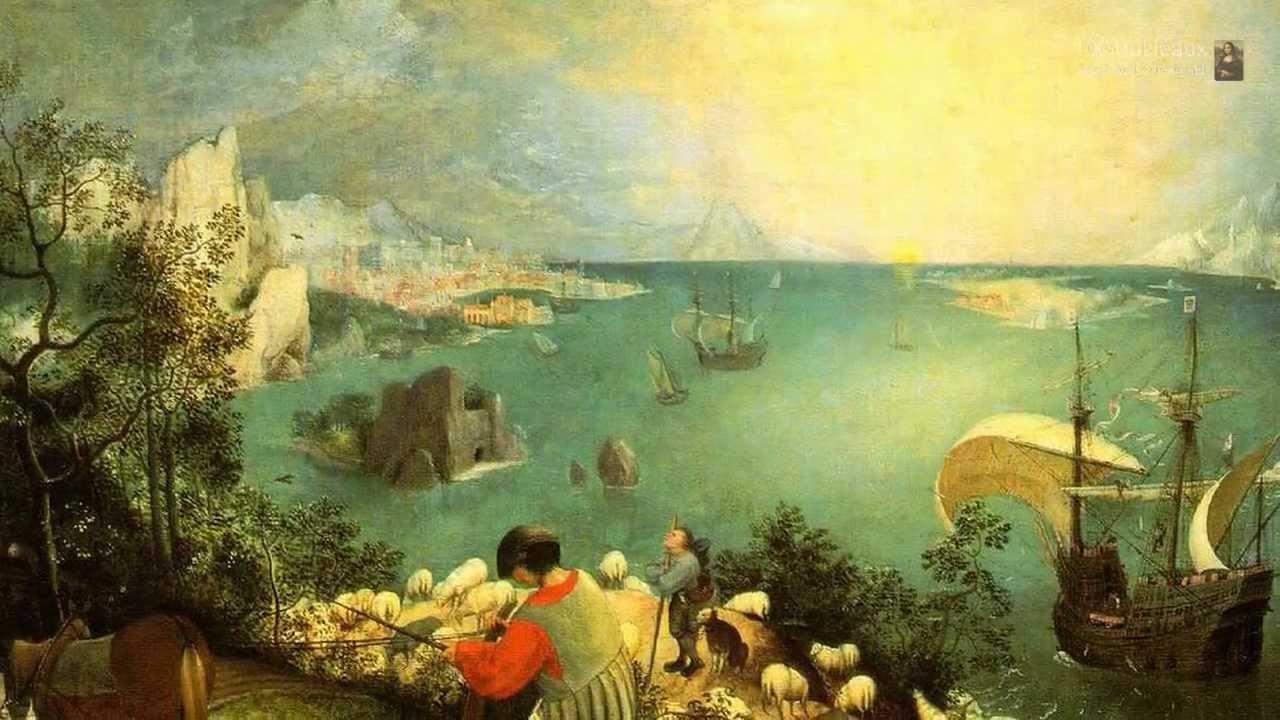 La Chute D Icare Par Le Peintre Neerlandais Pieter Bruegel L Ancien Youtube
