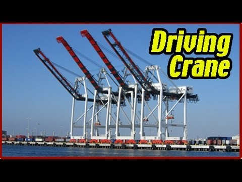 Container Crane Operation w/ Commentary. HD Operator's POV Discharging 40′ Load to Chassis