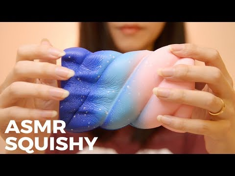 ASMR Soft Squishy | Sticky, Crinkle, Cutting Sounds (No Talking)