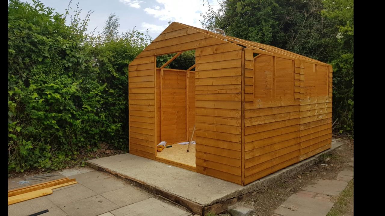 Garden Sheds Argos argos shed build 8 x 10 - youtube