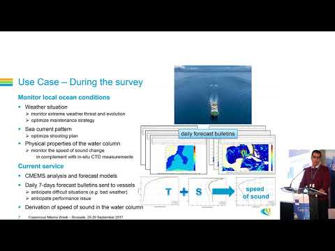 Use of operational oceanography to support marine seismic operations