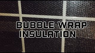 HOW TO INSULATE A WINDOW WITH BUBBLE WRAP