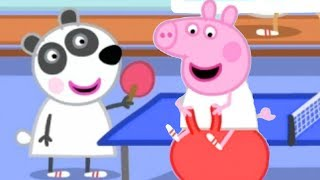 Peppa Pig English Episodes | Gym Class With Peppa Pig and Panda Twins | Peppa Pig