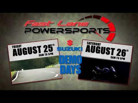 fast lane powersports 2017 suzuki demo days - youtube