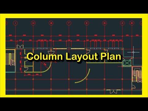 Column Layout Plan in AutoCAD। Bangla Tutorial । | Music Jinni