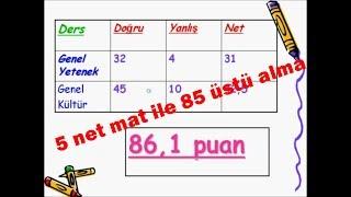 Kpss39;de 85 üstü nasıl alınır? 5 Net Mat ile(Önlisans ve Ortaöğretim için)