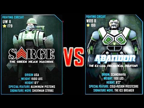 REAL STEEL WRB Sarge VS Abandon New Robots UPDATE (Живая Сталь)