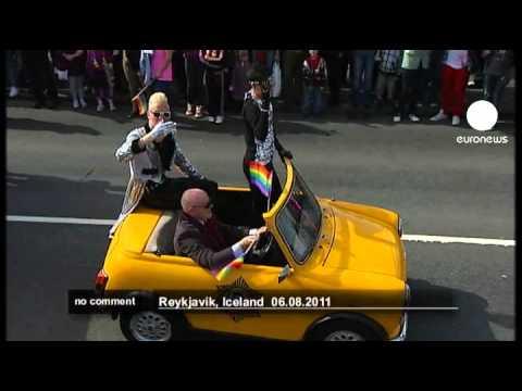 Reykjavik's Gay Pride parade kicks off - no comment